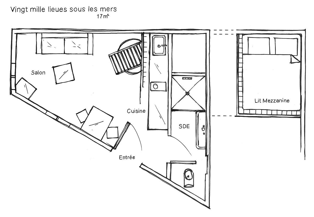 Plan chambre Nantes